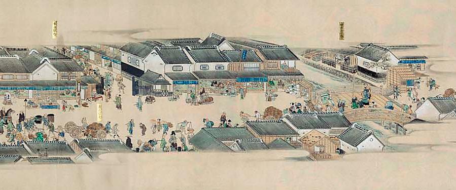 『熈代勝覧』江戸の町がいきいきと描かれた絵巻物
