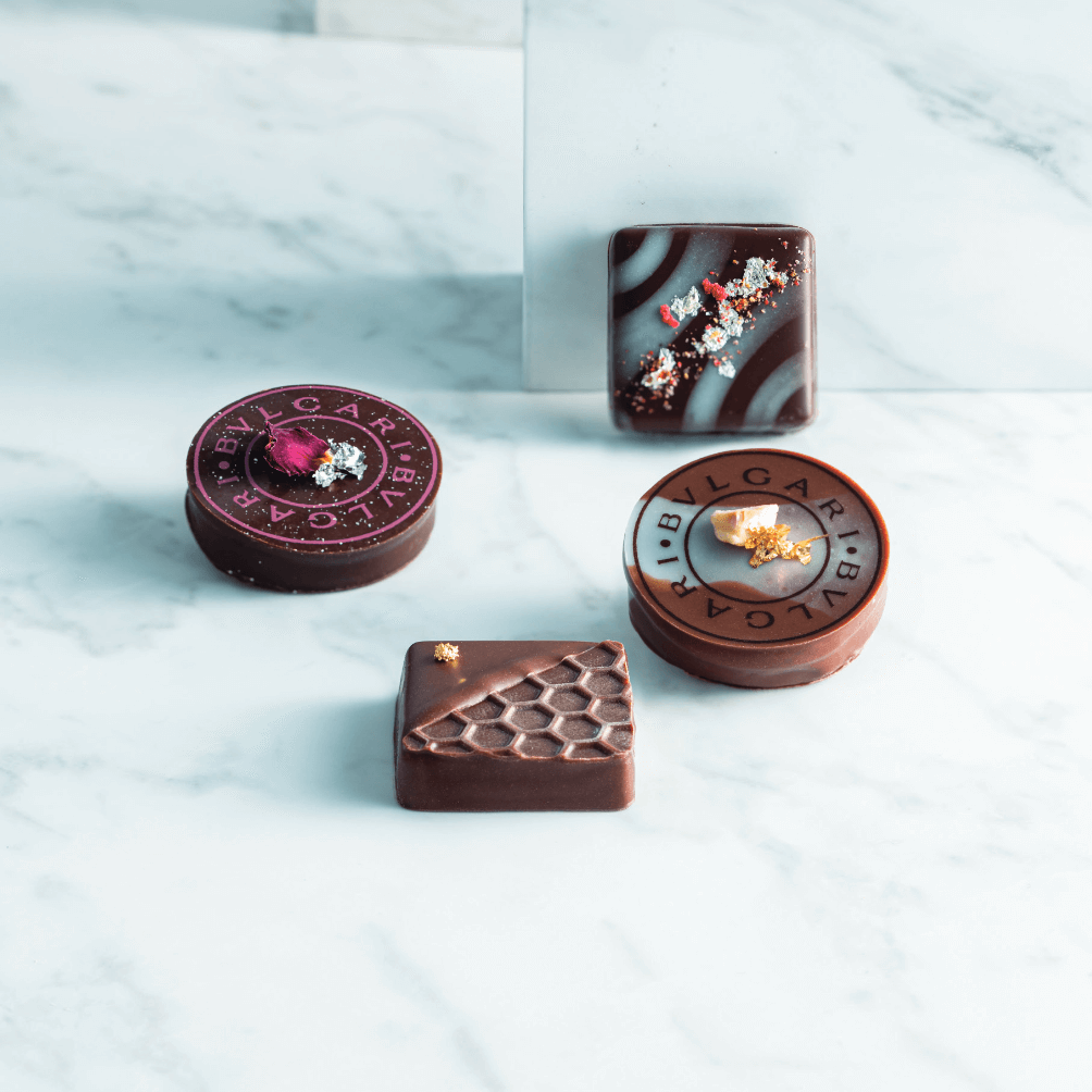<BVLGARI IL CIOCCOLATE> 11階 チョコレート・ジェムズ「サン・ヴァレンティーノ2021」 (4個入り) 税込4,800円 (10個入り) 税込11,000円