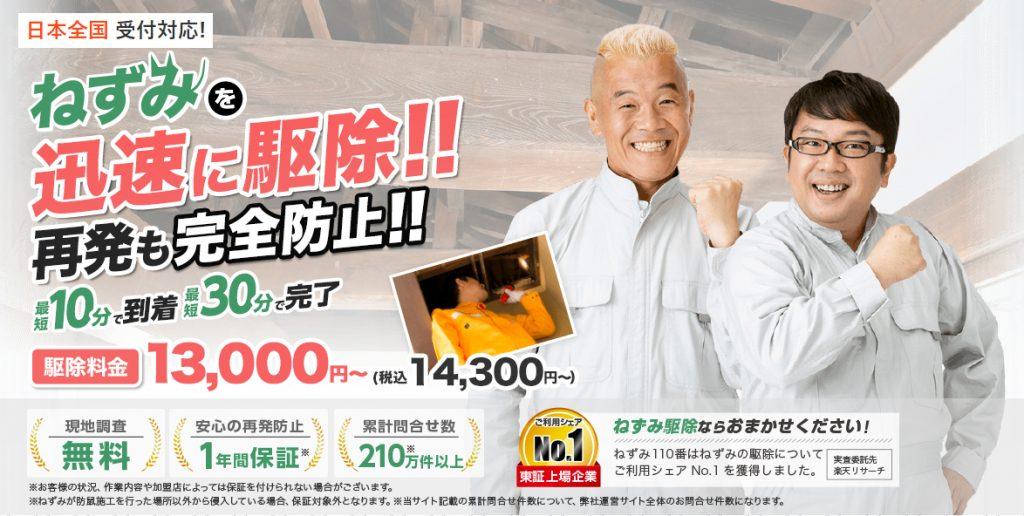 日本橋のネズミ駆除の専門業者を探すなら『ねずみ110番』
